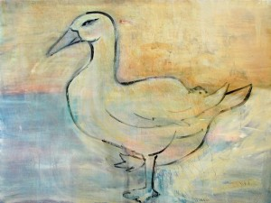 white-duck-36x48-ink-on-canvas